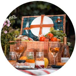 Prestige leather picnic baskets