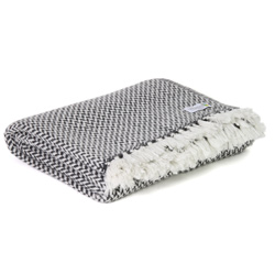 Comfortable throw in cashmere and wool: Anthracite Grey
